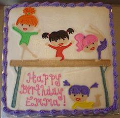 Gymnastics Party Cake @Julie Forrest Franklin