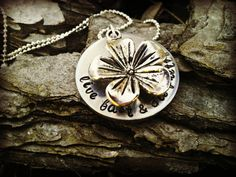 Hand Stamped Custom Hibiscus Necklace by CharmletteDesigns on Etsy, $26.00