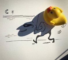 Artist Turns Random Shadows of Everyday Objects Into Playful Doodles of Whimsical Figures - My Modern Met