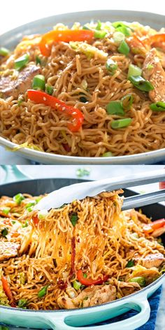 Chicken Ramen Stir Fry is a simple but tasty dish that is perfect for any night of the week Packed full of crunchy veggies cooked down in a savory spicy sauce served over ramen noodles this dish is a home run ramen chicken stirfry Healthy Dinner Recipes, Breakfast Recipes, Cooking Recipes, Healthy Soup, Cooking Food, Healthy Stir Fry, Skillet Cooking, Camping Cooking, Cooking Wine