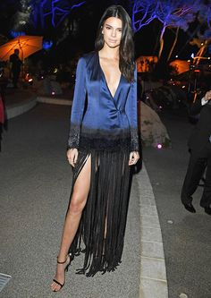 Kendall Jenner Turns Heads at Cannes in Plunging Dress