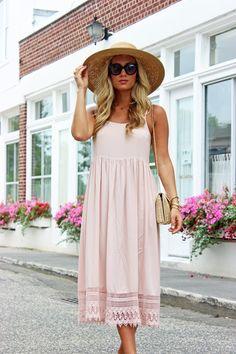 Blush Crochet Dress