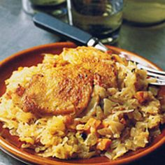 Sauerkraut simmered with vegetables, apple, and juniper berries is a perfect match for bacon and chicken thighs. The robust combination of flavors mak...