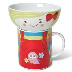My Sweet Muffin - Mug and Bowl set, Girl in Overall