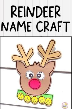 Are you looking for Christmas themed lessons, ideas, activities or crafts? Your students will LOVE this reindeer name craft in which he/she cut and glues a reindeer together and then writes 1 letter onto each of the bells. This craft makes an adorable display for classroom halls, doors or bulletin boards. This lesson is best suited for students in Preschool, Kindergarten and First grades. Reindeer Names, Reindeer Craft, Preschool Christmas Crafts, Kindergarten Crafts, Kindergarten Classroom, Classroom Door, Christmas Names, Christmas Fun, Christmas Riddles