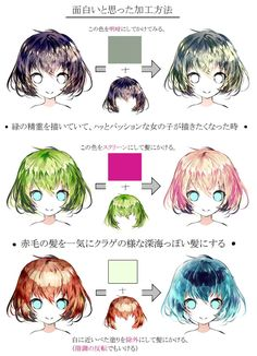 Fantasting Drawing Hairstyles For Characters Ideas. Amazing Drawing Hairstyles For Characters Ideas. Digital Painting Tutorials, Digital Art Tutorial, Art Tutorials, Drawing Base, Manga Drawing, Manga Art, Pelo Anime, Coloring Tutorial, Anime Hair