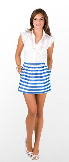 super cute striped skirt