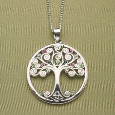 significativa del nudo celta de la semilla de la vida y el árbol de la vida de plata esterlina colgante collar