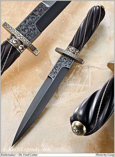Blade Steel: Blued Mild Steel;  Bolster / Guard: Nickel Silver; Handle Material: Presentation Grade Macassar Ebony