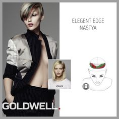 """Elegant Edge"" is one of the key looks within the Traditional Rebels '15 Collection #TraditionalRebel #ColorZoom #HairStylist www.goldwell.com"