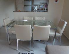 Mesa de Jantar Camélia e Cadeiras de Jantar Orquídeas - Cláudio. - Inusual - Smart Decor
