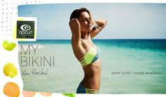 Head over to shop.ripcurl.com and get the Gypsy Queen Bandeau & Hipsters.