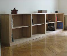 Bibliothèque basse contemporaine