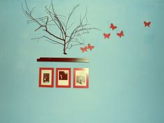 Wall Design blue red