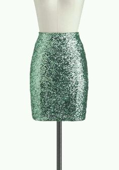 Sparkly Teal Skirt