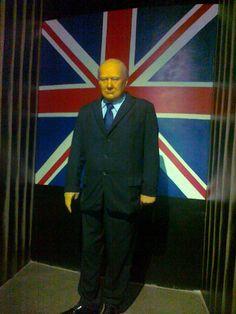 Wax figure of Sir Winston Churchill in Innovative Film City Bangalore