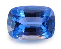 I love this beautiful | Kimberly Collins Colored Gems 10.15ct Blue Sapphire Cushion *cert (H)