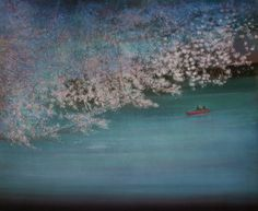 "Saatchi Art Artist Thomas Lamb; Painting, ""Blossom over the River"" #art"
