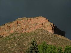 Steamboat as seen from our old front yard on Apple Valley Rd in Lyons Colorado