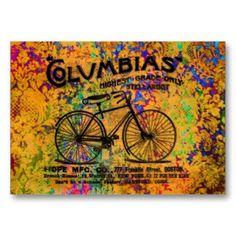 Vintage bicycle business cards vintage bicycles business cards vintage bicycle business cards colourmoves