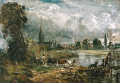 John Constable - Salisbury Cathedral from the Meadows, 1829