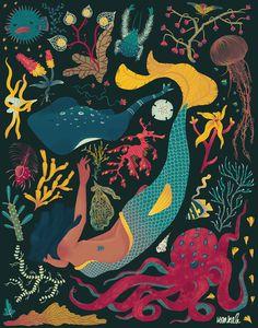 Mermaids on Behance by Monica Amneus