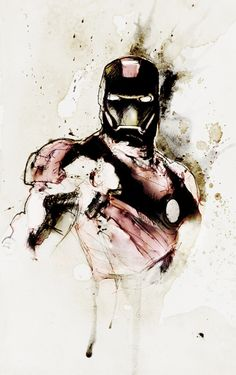 Iron Man ink painting