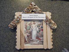 Familia Católica: Estaciones de la Cruz con palitos de madera