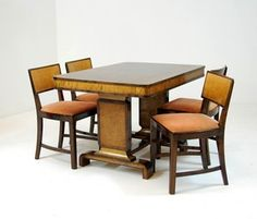 Bilderesultat for art deco møbler Functionalism, Art Deco, Dining Table, Architecture, Furniture, Home Decor, Beige, Arquitetura, Dinning Table