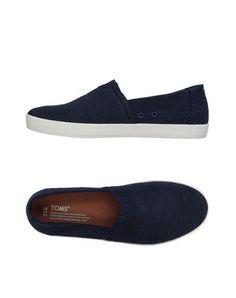 TOMS Men's Low-tops & sneakers Slate blue 10.5 US