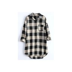 Plus Size Plaid Blouse (€22) ❤ liked on Polyvore featuring tops, blouses, plus size tops, women's plus size tops, womens plus tops, plaid top and plus size blouses