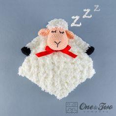 Sweet Sheep Lovey Security Blanket Crochet Pattern