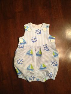 Baby boy bubble nautical by TashmopolitanCouture on Etsy