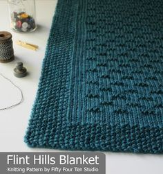 Fifty Four Ten Studio: Flint Hills Blanket knitting pattern. Easy to knit with super bulky yarn. Pattern includes instructions for five sizes. Chunky blanket knitting pattern.