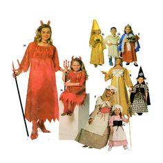 Child Halloween Costume Simplicity 0644 9724 by FindCraftyPatterns, $7.00