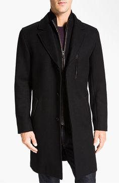 $532, Twill Overcoat by Cole Haan. Sold by Nordstrom. Click for more info: http://lookastic.com/men/shop_items/147132/redirect