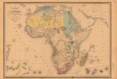 maps of Africa (Abraham Ortelius in 1584)