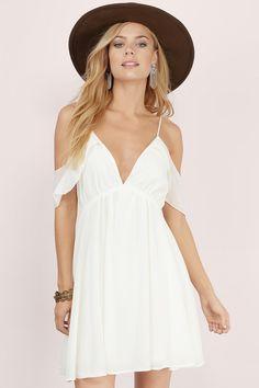 Must have little white dresses at www.tobi.com | #SHOPTobi | #LittleWhiteDress
