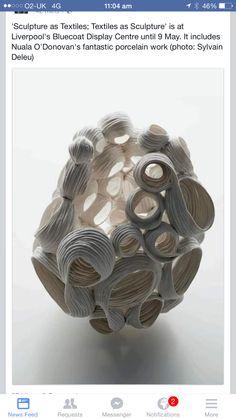 Caccoon???? Art Sculpture, Outdoor Sculpture, Abstract Sculpture, Ceramic Sculptures, Slab Pottery, Ceramic Pottery, Pottery Art, Paper Clay, Clay Art