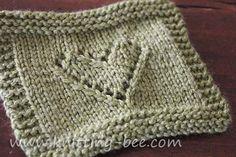 Lace Knitting | eyelet-heart-knitting-motif-pattern-2 » Knitting Bee