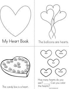 Heart Mini Book from TwistyNoodle.com