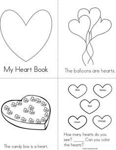 Heart Mini Book from TwistyNoodle.com