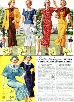 Wonderful warm weather fashions, 1936.