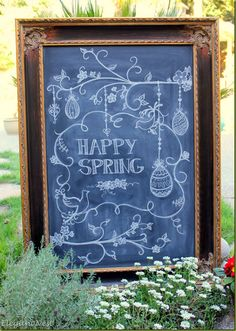 Spring chalk art