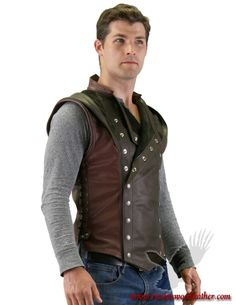 Brotherhood talon jerkin goes great with jeans http://www.ravenswoodleather.com/index.php?p=product&id=1420 #ravenswoodleather #Wearitcasual