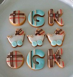 Burberry Baby Shower....@Andrea Potthoff I will most likely be making these for you someday!