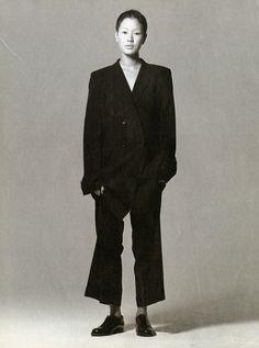 oversized suit...jenny shimizu, model