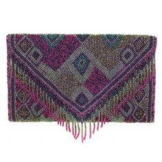Beaded Boho Clutch Violet now featured on Fab.