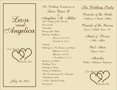 free printable wedding programs templates | : sample wedding ceremony programs…
