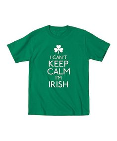 Another great find on #zulily! KidTeeZ Kelly Green 'I Can't Keep Calm I'm Irish' Tee - Toddler & Kids by KidTeeZ #zulilyfinds